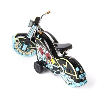 RETRO Wind Up Clockwork Tin Toy Harley Style Motorcycle Reproduction Collectable
