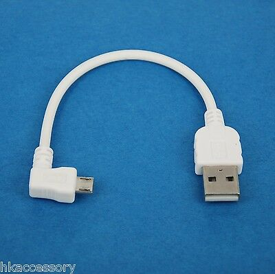 10ft 3M Fast Charger ONLY Right Angle USB Cable WHITE 4 Samsung Galaxy Tab S2 S