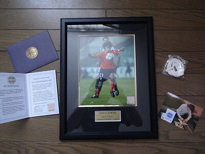 Pablo Aimar 100% Reliable Autographed Signed Photo with COA Framed Valencia 1