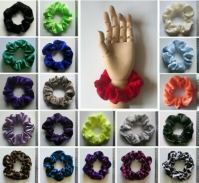 ONE VELVET SCRUNCHIE - Choose From Large Selection of Colours