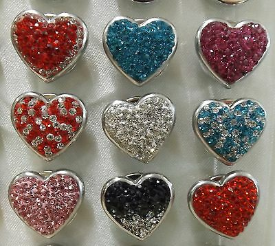 Multi coloured Hearts Noosa Style Snap Buttons