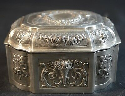 Antique Continental Silver Box