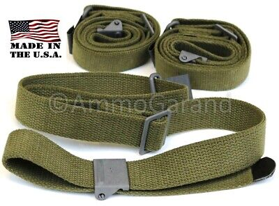 3-Pack M1 Garand Rifle Sling OD Green Cotton Web 2-Point NEW *US Made*