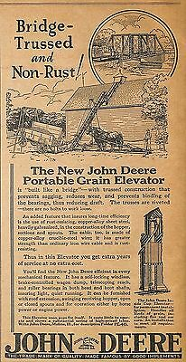 1929 John Deere Portable Grain Elevator Ad Advertisement Moline Il Illinois