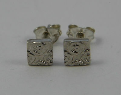 Ola Gorie 9ct Yellow Gold Ikat Earrings Boxed Scottish