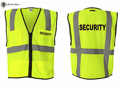 Security Event Bouncer Staff Party Guard Vests S-5XL