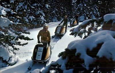 Snowmobiles Snowmobiling Publ in Eau Claire WI Postcard