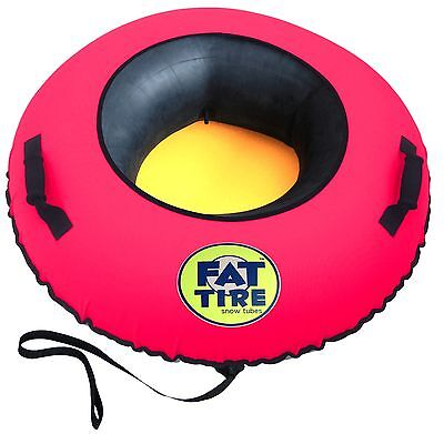 Fat Tire Snow Tube™ - Heavy Duty Snow Tube  (NEON PINK)