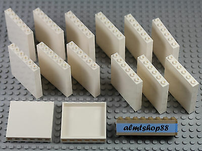 LEGO - 1x6x5 Panels White Lot 59349 Wall Tiles Plates Bulk Smooth Hollows Studs