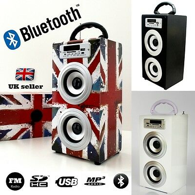10W Outdoor Wireless Bluetooth Tower Speaker with SD Card USB Stick FM Radio