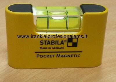 New Stabila 17773 Pocket Magnetic Level Measuring Tool Made in Germany free ship