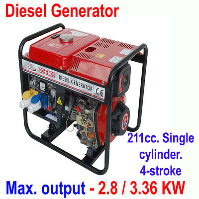 2.8Kw 230V Industrial Neilsen Diesel Fuel Power Generator Transformer Ct2020