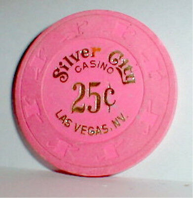 $.25 Chip Silver City Casino Las Vegas Nevada 1974-1999 Vintage & Casino History