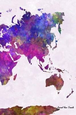 Journal Your Travels World Map Watercolor Travel Journal, Lined... 9781515191766