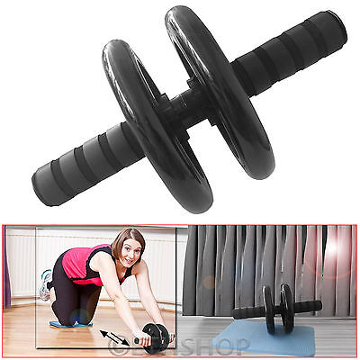 Abs Abdominal Exercise Wheel Fitness Gym Body Strength Training Roller Machine