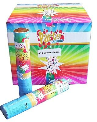 """8"""" Multi-Color Confetti Cannon Shooter Party Popper  Years Eve Nye Dj Supply"""