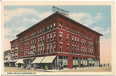 Hotel Holley In Bradford Pa Postcard
