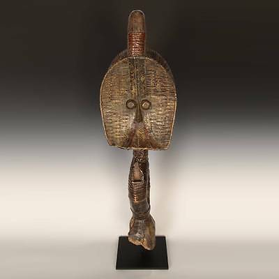 African Osseyba Or Reliquary Figure Brass Kota / Mahongwe Gabon Central Africa