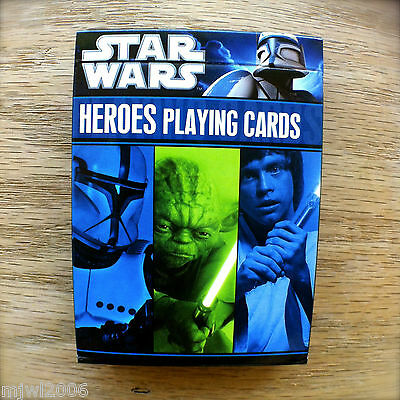 STAR WARS HEREOS PLAYING CARDS Sealed Deck Characters Six Films Luke Han Solo
