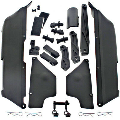 Mugen 1/8 MBX7TR Eco Truggy * STONE/SIDE GUARDS, CHASSIS BRACE BUMPER BODY MOUNT