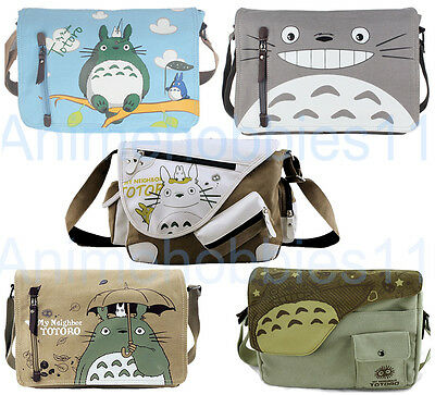 Cute My Neighbor Totoro Canvas Shoulder Bag Messenger Anime Cosplay Bag