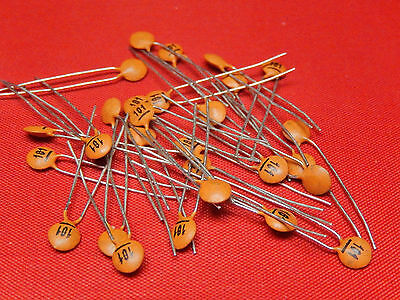 50x Ceramic Disc Capacitors Y5P p=2.5mm CTC Multi-Variation Listings