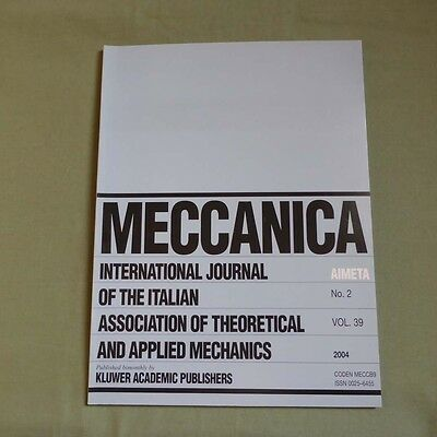 Meccanica 39_2 2004_International Journal of Theoretical and Applied Mechanics