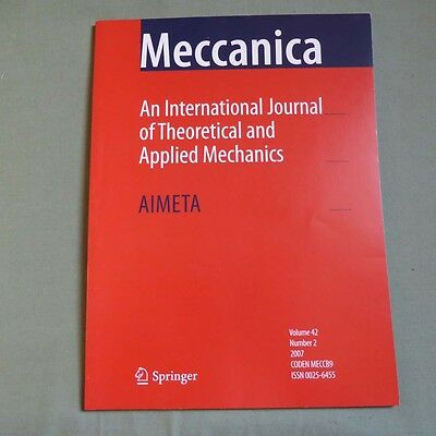 Meccanica 42_2 2007_International Journal of Theoretical and Applied Mechanics