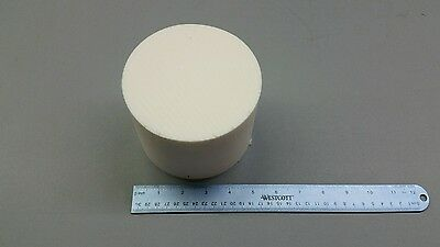 "Ptfe Teflon Rod  White 5.125 "" Diameter 4"" Long Rod/disc"