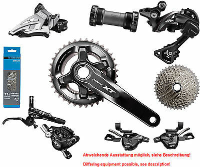 Shimano Deore XT 8000 Disc Groupset 3x11 Rapidfire 2016 180-160 40-30-22 Press