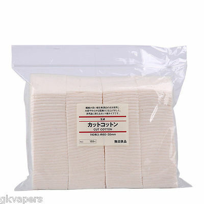 50 X Genuine Muji Unbleached Untreated Japanese Organic Cotton Pads For Wicks