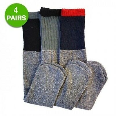 4 pair Men's Thermal Socks Warm Winter Skiing Snow Cold Weather Gear size 10-13