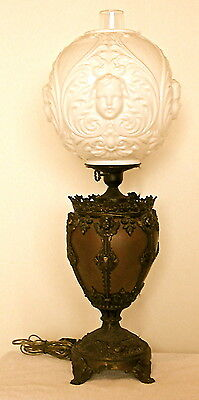 AUTHENTIC & VINTAGE Ornate BRADLEY HUBBARD 'Gone With The Wind' LAMP