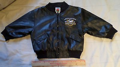 Snoopy kids size 2T motorcycle jacket childrens winter coat