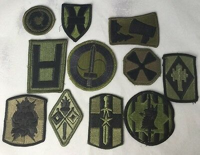 U.S ARMY - Lot Of Large Subdued Military Patches -Embroidered Collectible Patch