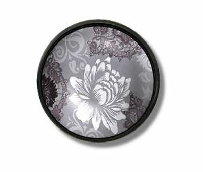 Black White Gray Floral Damask Lace Drawer Pull Goth Victorian Dresser Door Knob