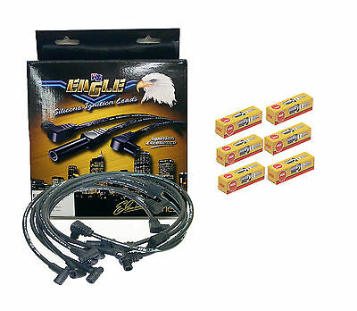EAGLE Eliminator 10.5mm IGNITION LEADS COMMODORE VL RB30 w/  NGK Spark Plugs