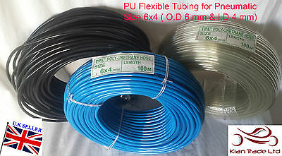 Details about  /PU Polyurethane Flexible Air Tubing Pneumatic Pipe Tube Hose 2.5 3mm 4mm 6mm UK