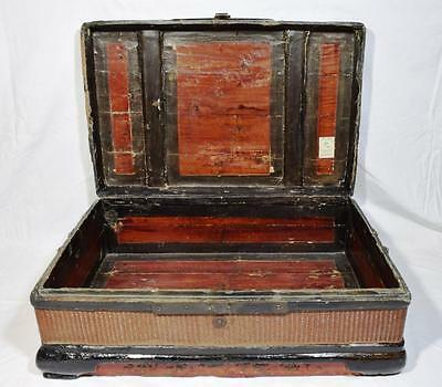 Antique Chinese Wicker Small Trunk/Suitcase C.1910s