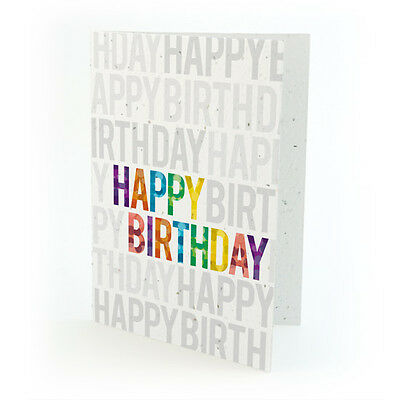 Ecofriendly Birthday Cards - Plantable Greeting Cards with Seed Paper !