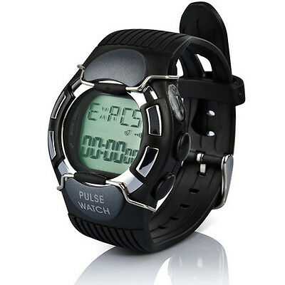 New Waterproof Heart Rate Monitor Calorie Pulse Sport Watch With Colock Black