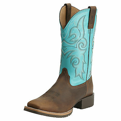 ARIAT - Women's Hybrid Rancher WST - Brown / Turquoise - ( 10014162 ) - New