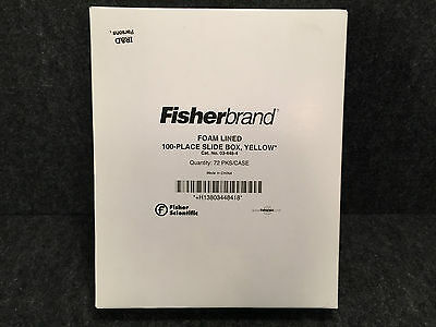 Fisherbrand 03-448-4 Foam Lined 100 Place Slide Box Yellow