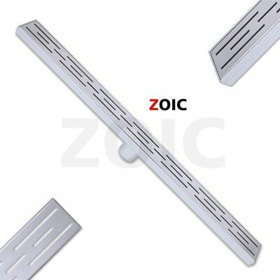 304 Stainless Linear Shower Drain Center Waste Water Fliter Grate Bathroom Pond