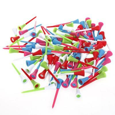 83mm Plastic & Rubber Cushion Top Golf Tees 100 PACK wholesale bulk colorful