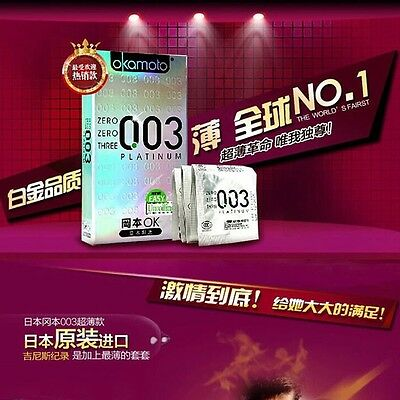 hoy selling okamoto 003 ultra-thin More oil condoms 50PC thinnest delay