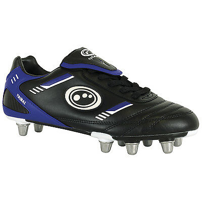 Optimum Tribal Low Cut Rugby Boots Synthetic Pro Senior Black/Blue