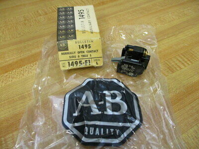 Allen Bradley 1495-F1 Auxiliary Contact 1495F1 Size 0-5 (Pack of 3)