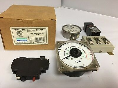Mix Lot* Of Edwards 875-C1 Surface Horn, Ab Switch,Omron Al001 And More