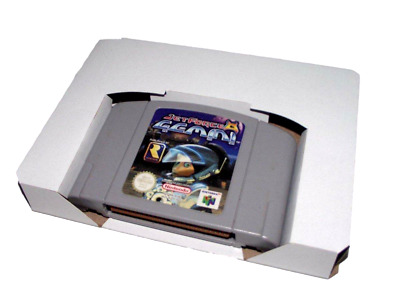 10 x N64 Nintendo 64 Game Tray Inserts White Replacement Reproduction Insert